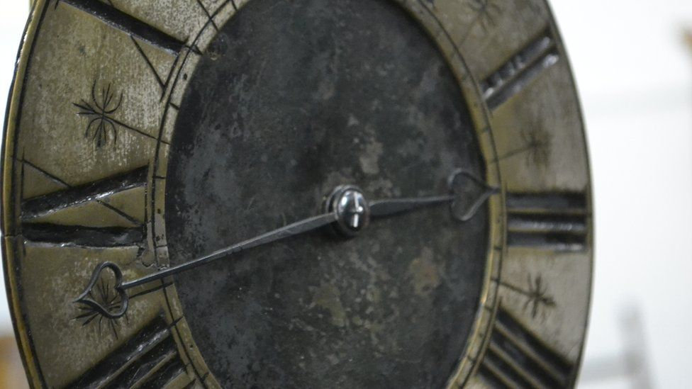 A typical Normandy Clock brought to Guernsey by Mr Blondel's mentor Jean Poppelston
