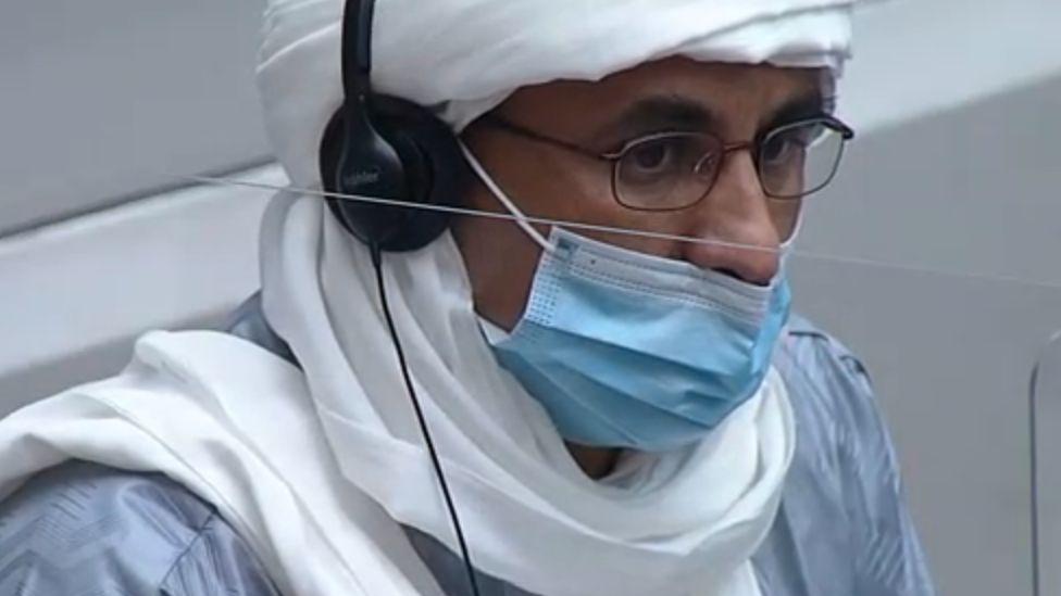 Al Hassan Ag Abdoul Aziz Ag Mohamed Ag Mahmoud in court Tuesday 14 July 2020