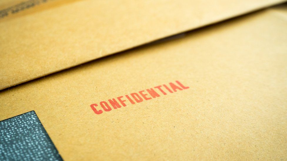 Confidential letter