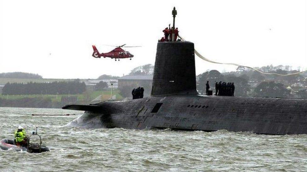 Nuclear submarine HMS Vanguard