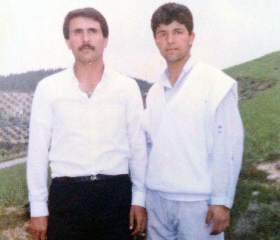 Yasser al-Haji (l) with Raed
