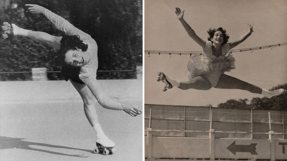 Jocelyn Taylor, skating in the 1950s