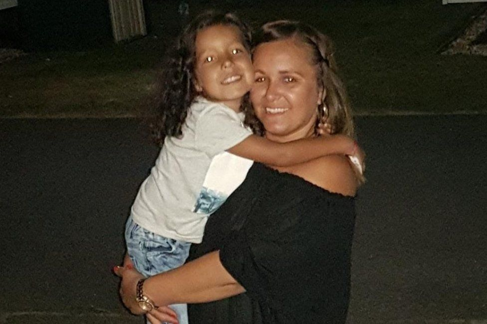 Janika Cartwright with her son