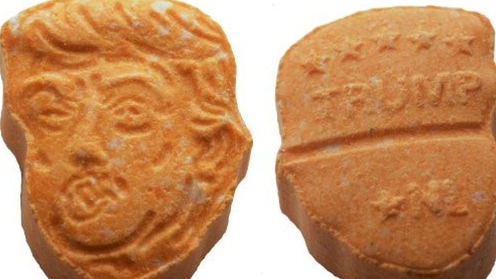 Donald Trump-shaped ecstasy tablet seized by German police (20 August 2017)