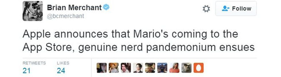 Mario tweet