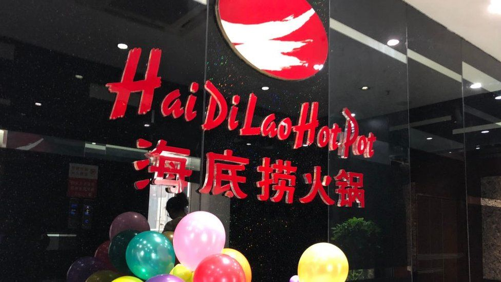 A Haidilao Hot Pot restaurant is seen at a mall on May 22, 2018 in Beijing