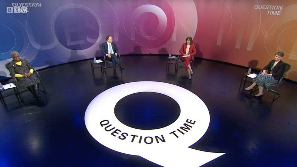 Question Time being filmed without an audience