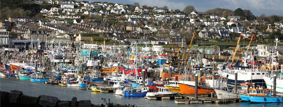 Newlyn Harbour in Cornwall