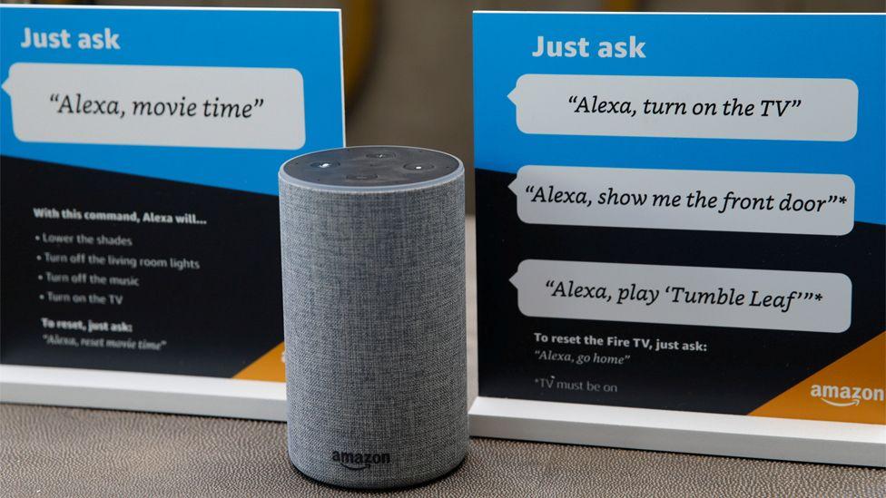 File image of an Amazon Alexa on display