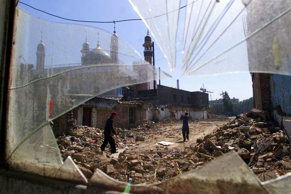 mosque destroyed