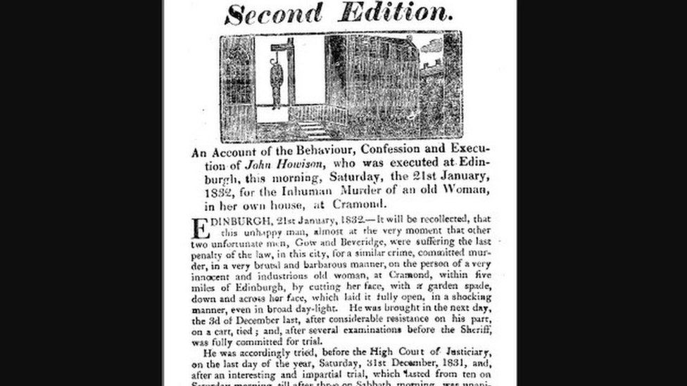 Newspaper clipping of the court story from 1832