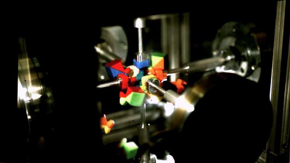 Rubik's cube destroyed