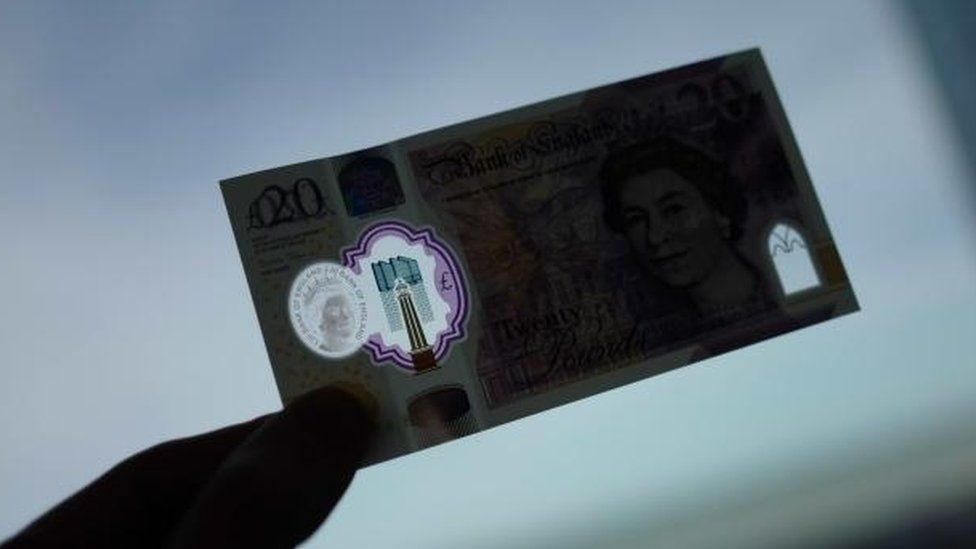 See-through windows on new £20 note