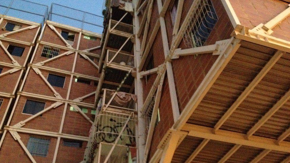 A view of the housing blocks in Santa Rosa estate