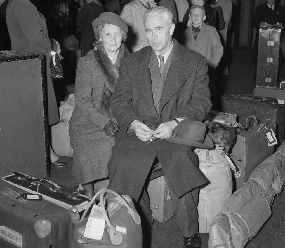 Boris Hagelin and his wife fled to the US during World War Two