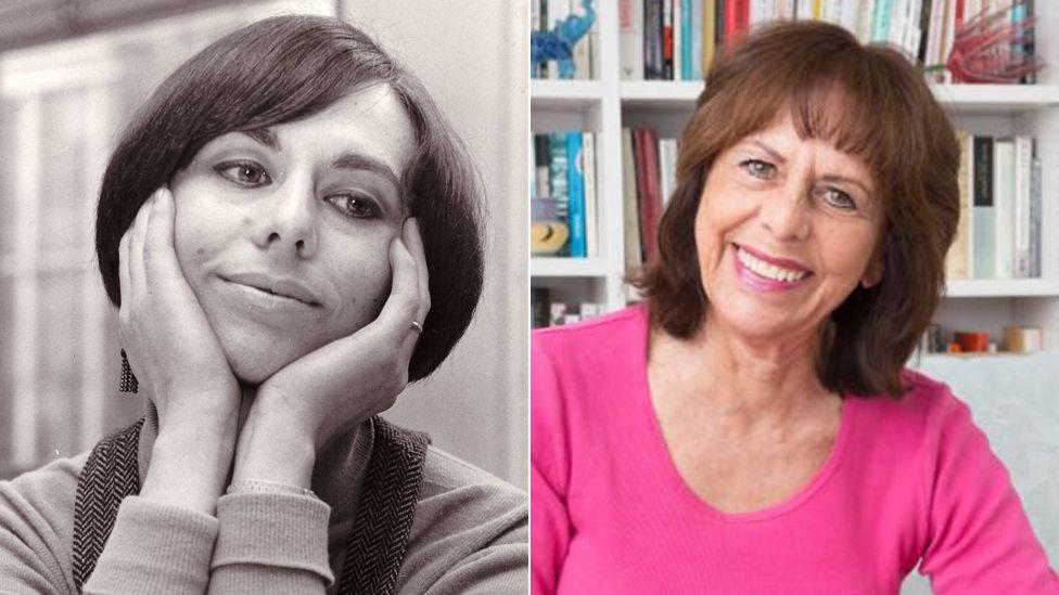 Liz Hodgkinson in 1969 (left), and again in 2016