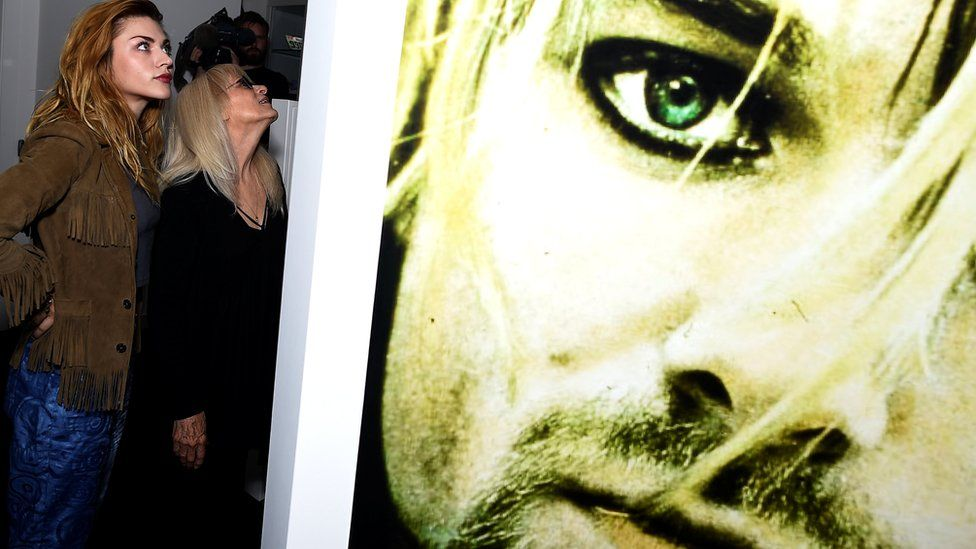Kurt Cobain's daughter, Frances, was among the first visitors to the Irish exhibition