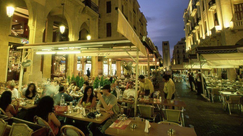 Beirut restaurants in the evening