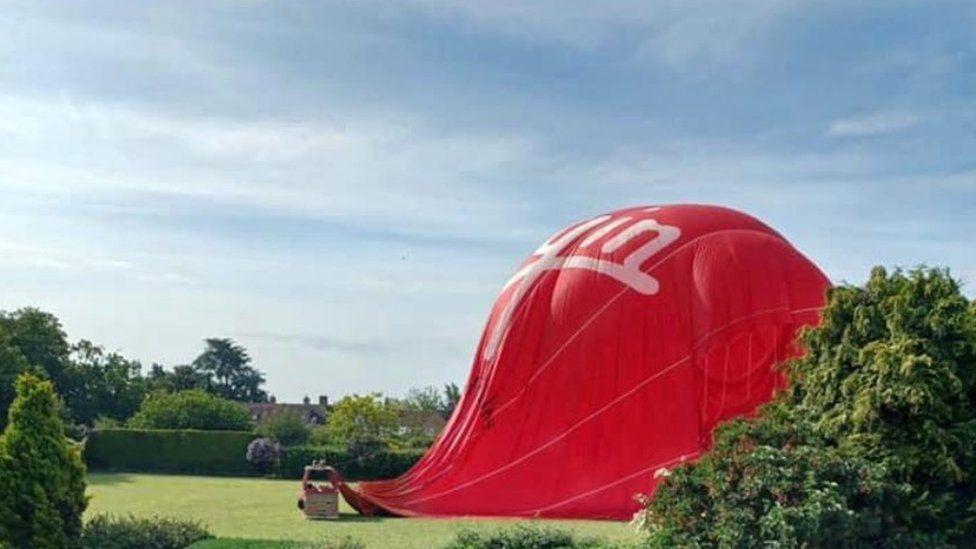 Hot air balloon lesson at school