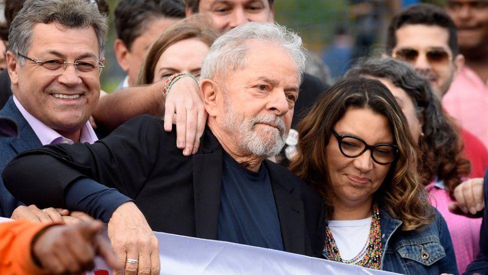 Lula pictured with his girlfriend Rosangela da Silva