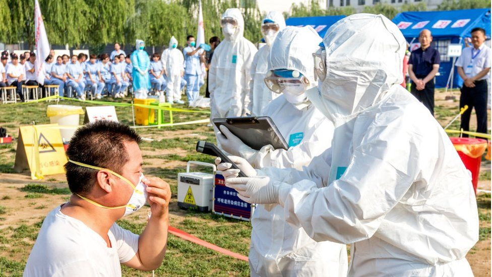 Avian flu exercise in Hebi, China