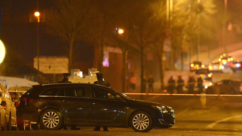 Scene of the shooting in North Belfast