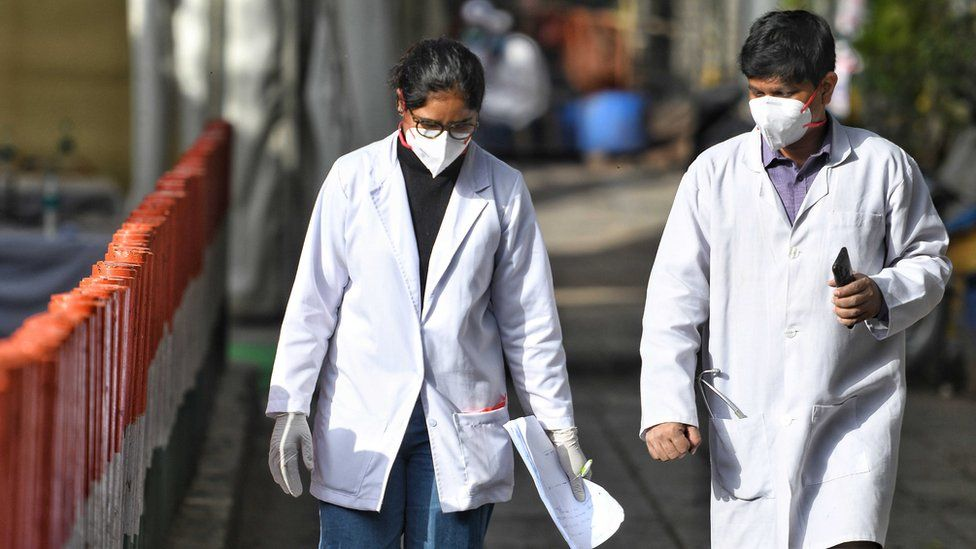 File photo showing two Indian doctors