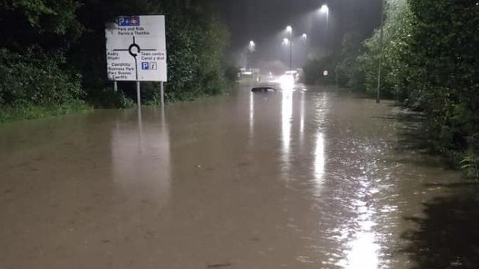 Flooding in Caerphilly