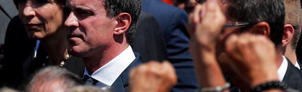 Valls booed