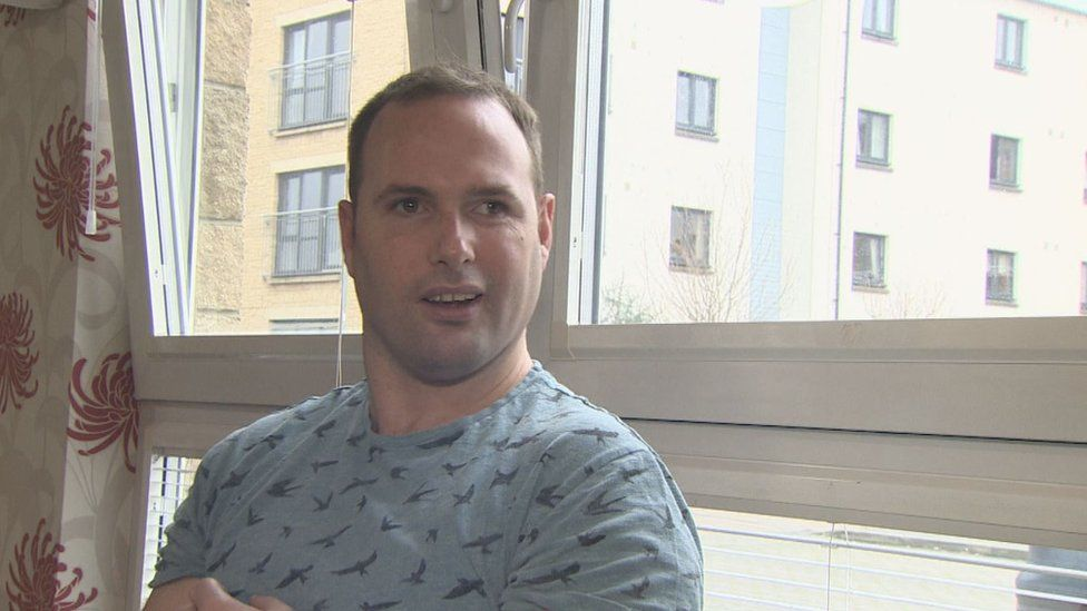 Louis was living in a care unit in Hartlepool before he moved to a new flat nearer his home