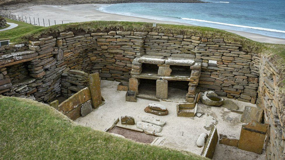 visited Skara Brae in a windswept Orkney today. I is an amazing insight into how people lived 4500 years ago and has been designed a World Heritage Site.