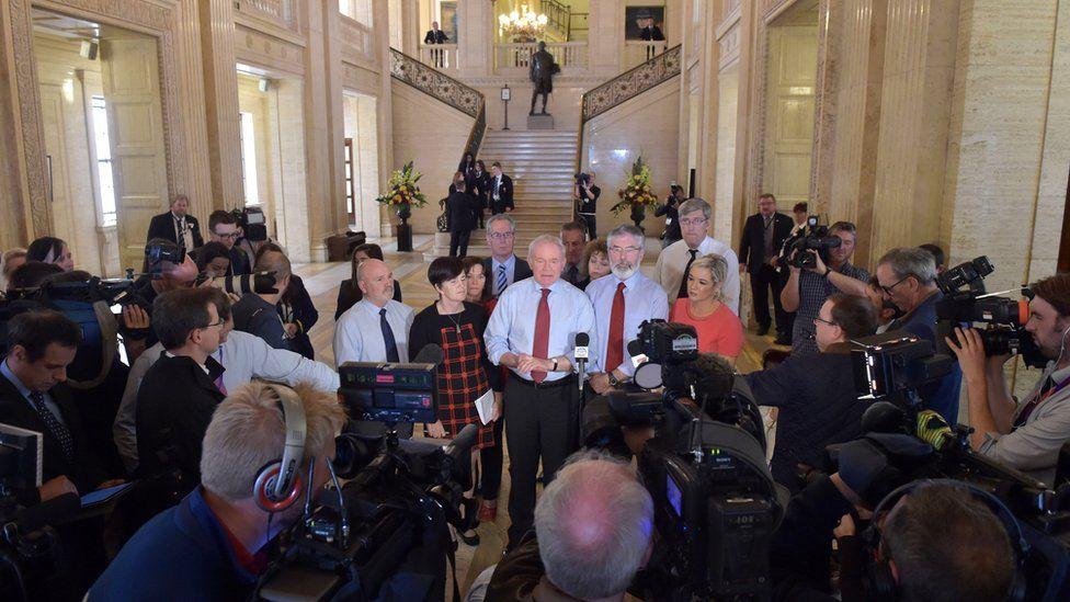 Sinn Fein at press conference