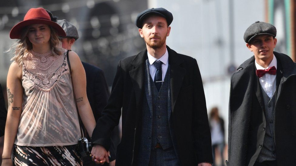 Fans at the Peaky Blinders festival