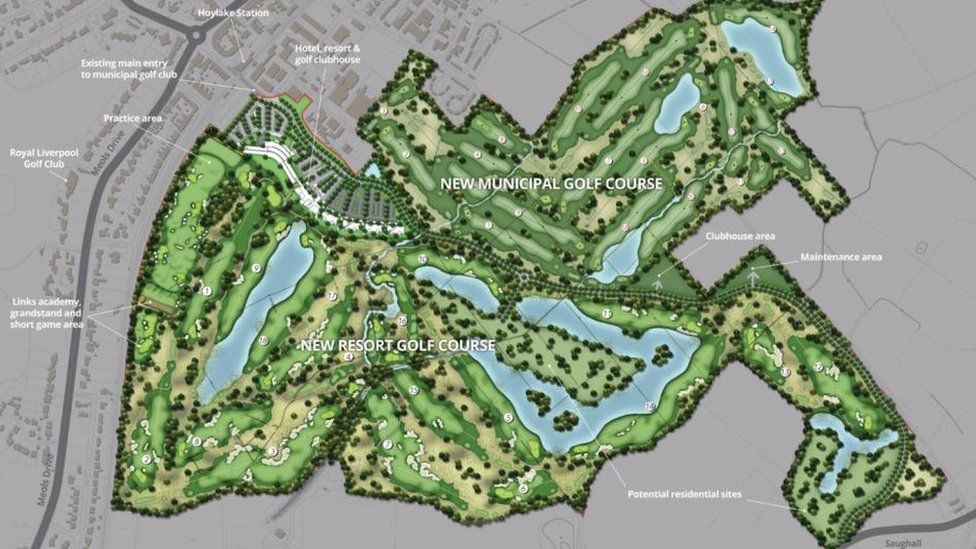 Plans for a golf resort at Hoylake