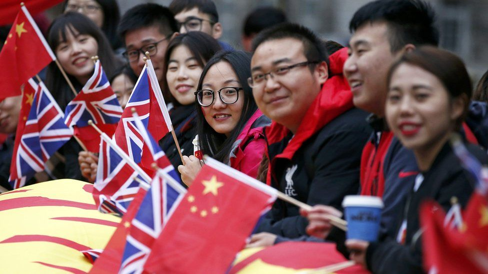 Supporters of President Xi Jinping