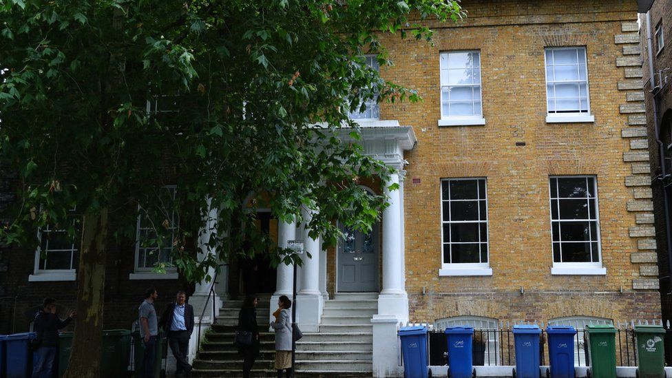 Carrie Symonds' home in Camberwell
