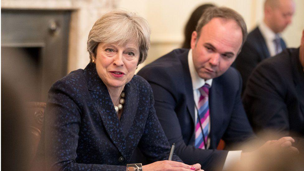 Theresa May and Lord Barwell