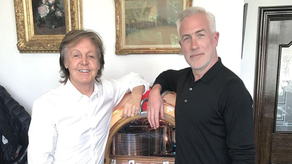 Sir Paul McCartney and Matt Everitt