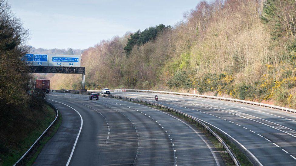 The M4 around Cardiff