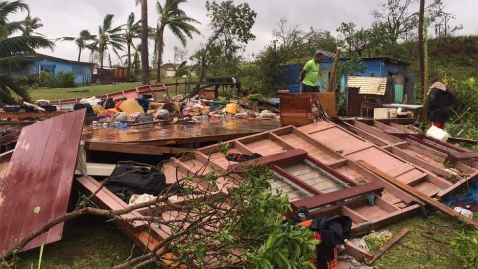 Tropical Cyclone Winston's destruction in Ba, Fiji