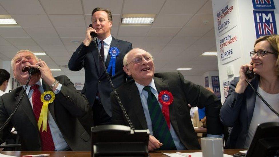 Lord Ashdown, David Cameron and Lord Kinnock