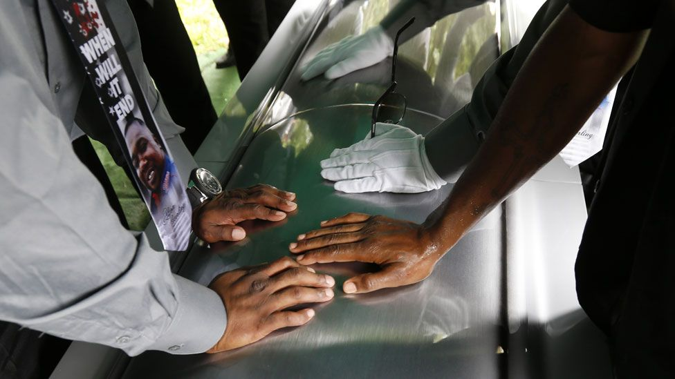 The coffin of Alton Sterling