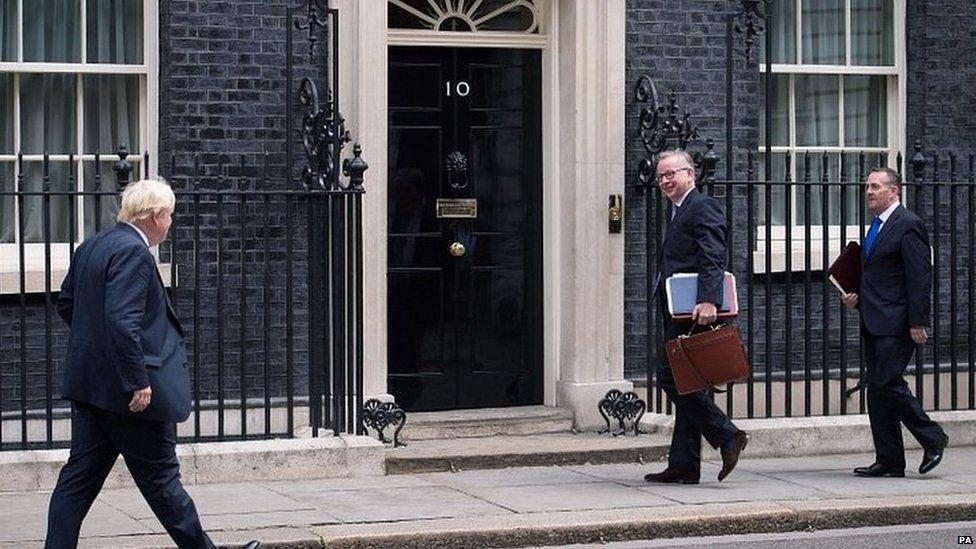Boris Johnson, Michael Gove and Liam Fox
