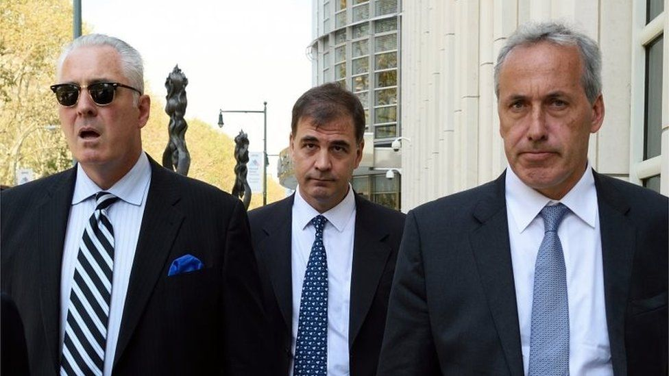 Argentine sports marketing executive Alejandro Burzaco leaves the US District Courthouse in Brooklyn September 18, 2015 in New York
