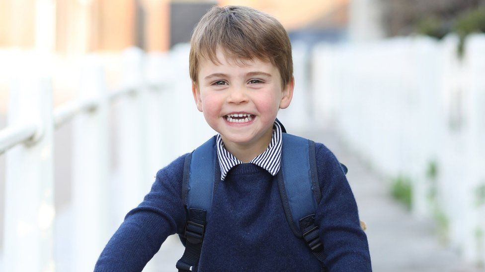 Prince Louis for his third birthday and taken on Wednesday by his mother