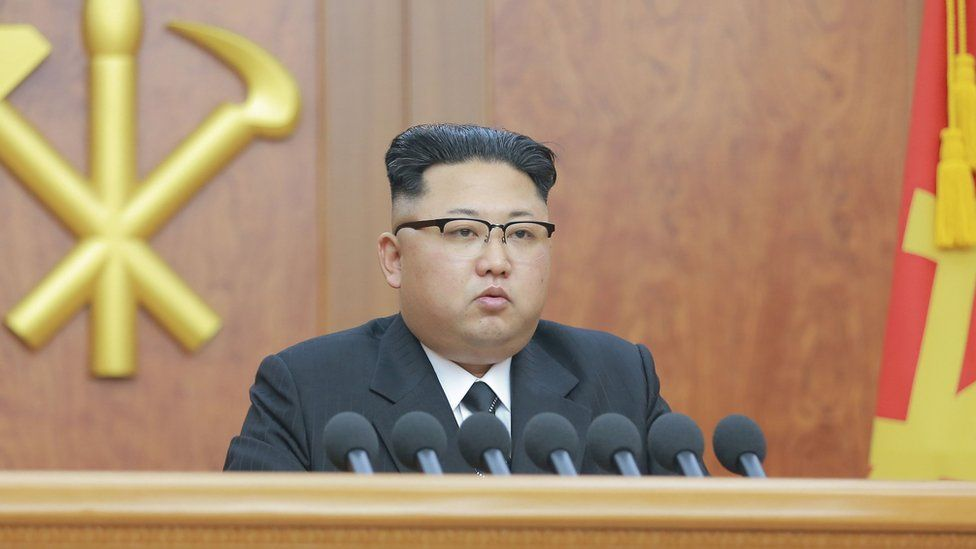 North Korean leader Kim Jong Un gives a New Year address for 2017