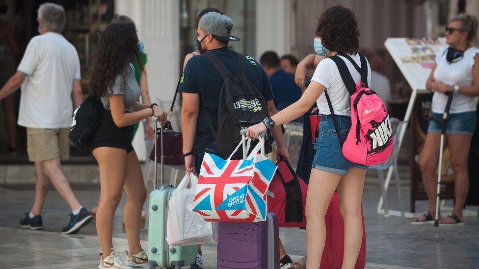 British tourists in Malaga
