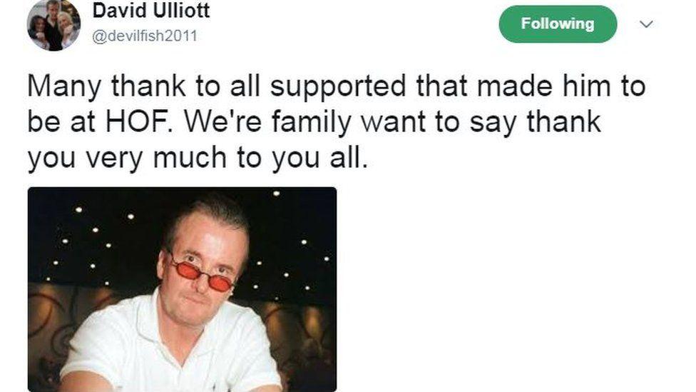 David Ulliott's tweet