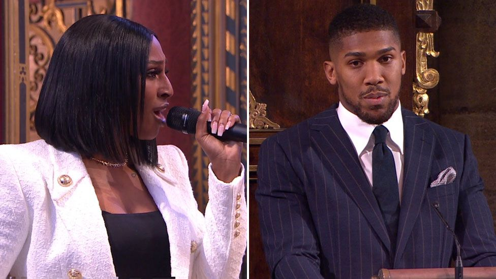 Alexandra Burke and Anthony Joshua