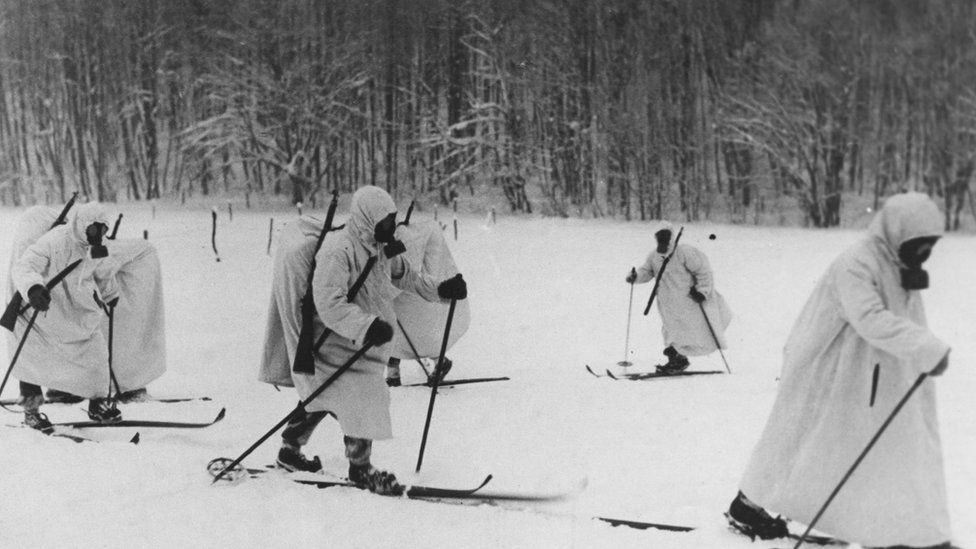 Finnish troops during the Winter War
